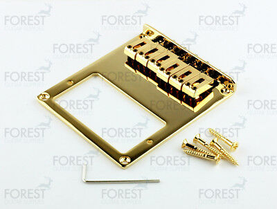 BT-004, Telecaster ® style bridge for humbucker pick up, string thru, gold segunda mano  Cerca de Carrasquilla
