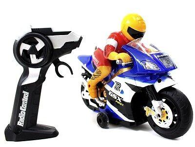 NEW!! RC GSX 360 Motorcycle Remote Control Christmas Toy R/C Children BLUE MC88B