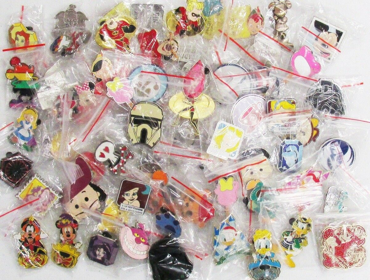 Disney Trading Pin - Lot of 15 Pins Random Mix Cast Lanyard/LE/Rack No Duplicate
