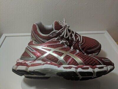 Women's Asics Gel Kayano 19 running/Walking shoes Red / White size 8.5 ()