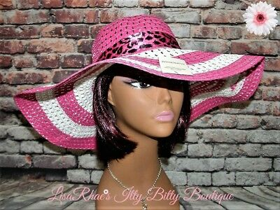 SPRING FASHION Pink & White Womens FLoPPy Beach Garden Easter Derby SuN HaT](Womens Easter Hats)
