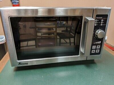Amana Rcs10dse Stainless Commercial Microwave