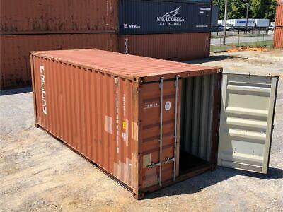 Used 20 Dry Van Steel Storage Container Shipping Cargo Conex Seabox Minneapolis