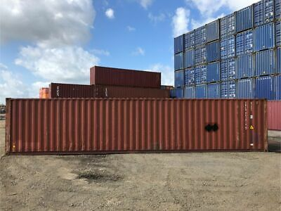 Used 40 High Cube Steel Storage Container Shipping Cargo Conex Seabox Savannah