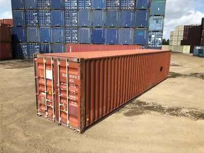 Used 40 Dry Van Steel Storage Container Shipping Cargo Conex Seabox Mobile