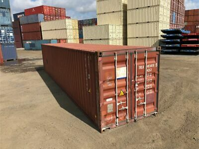 Used 40 Dry Van Steel Storage Container Shipping Cargo Conex Seabox St. Louis
