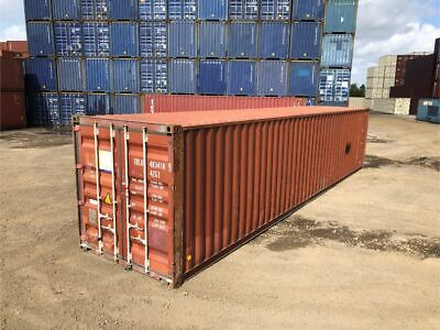 Used 40 Dry Van Steel Storage Container Shipping Cargo Conex Seabox Savannah