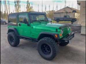 2004 Jeep Tj Wrangler Rubicon, A/C, Cruise, Touchscreen, low km