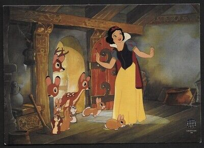 WALT DISNEY SNOW WHITE AND THE SEVEN DWARFS HOUSE WARMING SERICEL PROMO CARD