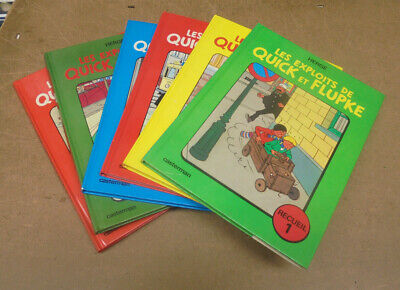 HERGE - QUICK ET FLUPKE - RECUEILS - TOMES 1 A 6 INCLUS - REE ( BE+ / TBE )