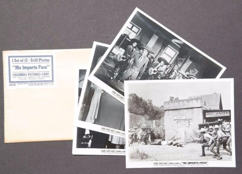 Vtg 1960 Me Importa Poco Movie Press Kit Photos (Miguel Aceves Mejia )