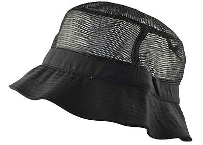 Decky Mesh Bucket Hat LXL Black