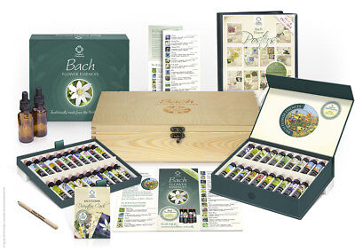 (Bach Flower Essence Complete Kit Wooden Case. Practitioner Gift Set Remedy Box)