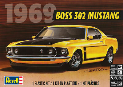 REVELL 1:25 MODEL KIT 1969 FORD MUSTANG BOSS 302 85-4313