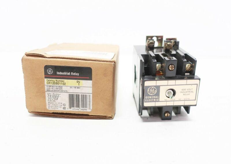 General Electric Ge CR120B01102 115v-ac Industrial Control Relay