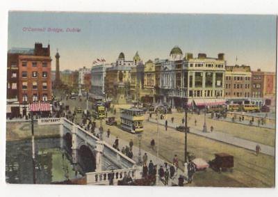 O'Connell Bridge Dublin Ireland Vintage Postcard 812b