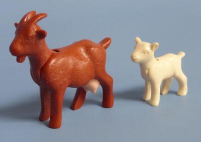 Playmobil  Mother Goat (Nanny) & Kid (baby)  - Farm Wildlife Animals Petting Zoo