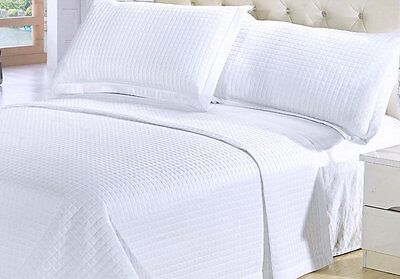 modern solid pure white coverlet quilt bedding