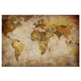 Ready to Hang Canvas Print Canvas Wall Art Painting Retro World Map Pic For Deco
