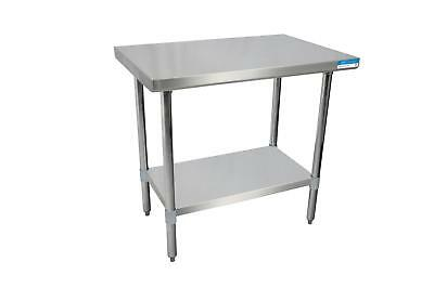 Bk Resources Svt-7230 Commercial 72x30 Work Prep Table All Stainless Steel Nsf