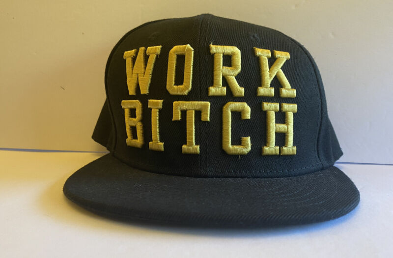 "Britney Spears ""Work Bitch"" Snapback Hat, One Size, Piece Of Me Las Vegas"