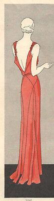 1931 Vintage VOGUE Sewing Pattern B34 DRESS (1035R)