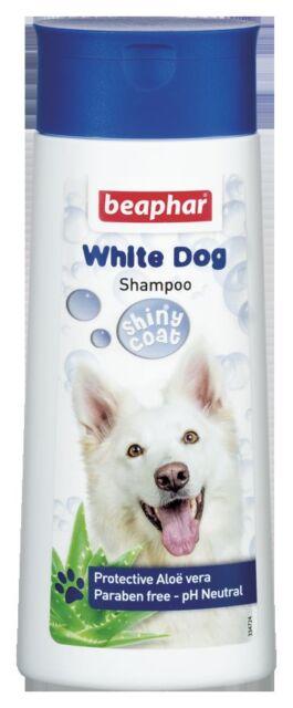 Beaphar White Dog Shampoo 250ml With Aloe Vera, sensitive skin