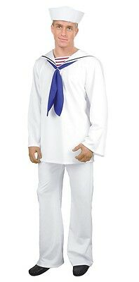 Halloween-kostüm Popeye (Sailor Man Military Navy White Uniform Popeye Dress Up Halloween Adult Costume)