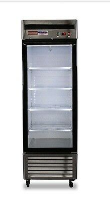 New 1 Door Glass Refrigerator Door Single Reach In Cooler Beverage