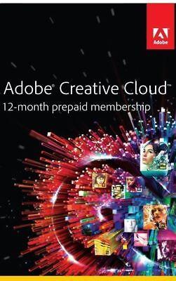 ⭐ Adobe Creative Cloud ⭐ 1 Year Subscription ⭐ Windows & Mac | All CC Apps ⭐
