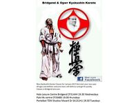Kyokushin Karate classes in Bridgend and surrounding area