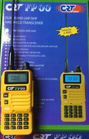 CRT FP 00 Dual Band VHF/UHF Handset Yellow