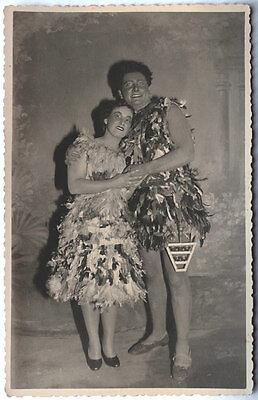 Echtes Original 1937 Paar in Papageno Kostümen, R.MÜLLER, mit - Original Paare Kostüm