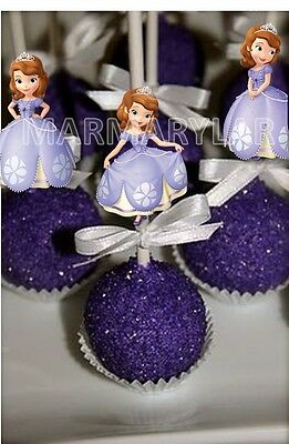 Sofia The First Cake Pops Toppers, Cupcakes Toppers and Cake Topper - PRINTABLE - Sofia The First Cupcake Cake