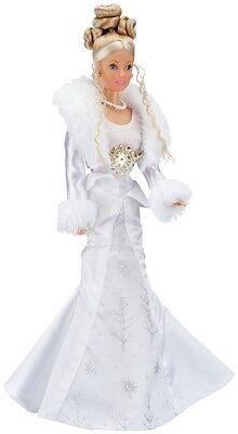 Puppe Steffi Love Spiel Prinzessin Mädchen Barbie Winterkleid Winter Figur Weiss