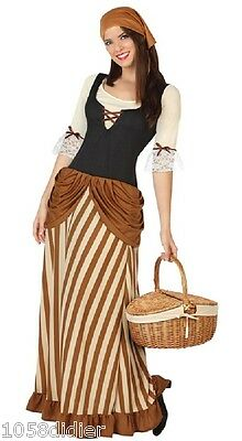 Costume Woman MAID Medieval XL 44 Peasant woman Falbala NEW cheap