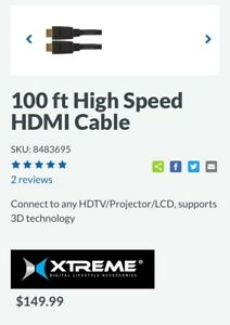 100 Foot - XTREME HDMI Cable