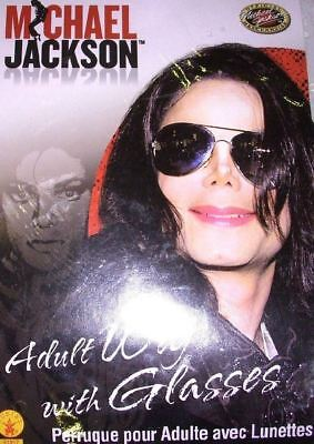 MICHAEL JACKSON OFFICIAL ADULT COSTUME WIG & GLASSES HALLOWEEN COSPLAY COSTUME