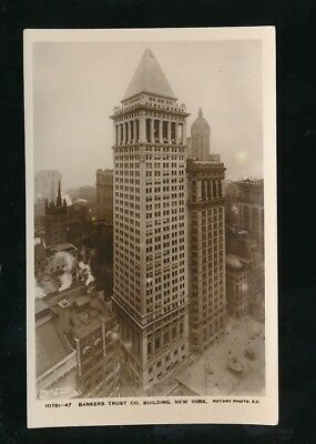 USA NEW YORK CITY Bankers Trust Co Building c1920/30s? RP PPC by Rotary