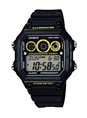 Casio Men's Illuminator Black Resin Strap Watch