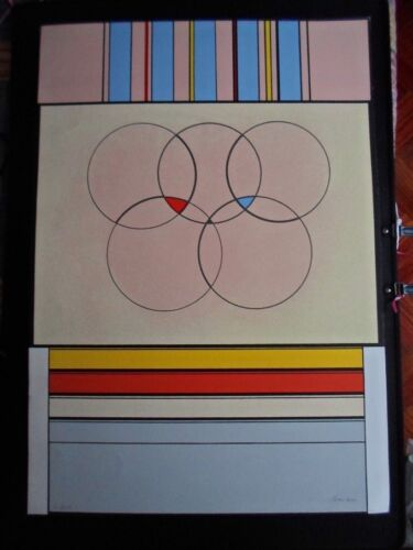 Carmelo Arden Quin (Uruguay 1913-Francia 1910) serigraf90x63c de 1992 firma /250