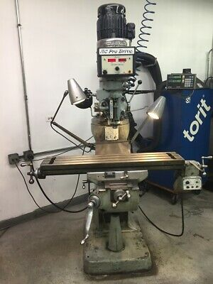 Used Bridgeport Series I Vertical Mill Sony Dro 3 Hp Variable Speed Spindle 1979