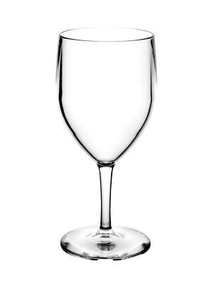 Polycarbonate Plastic Wine Glasses - Unbreakable Reusable Polycarbonate Plastic Wine Glasses (270ml/ 9oz to rim)