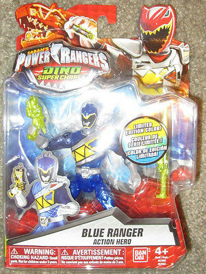 POWER RANGERS DINO SUPERCHARGE BLUE RANGER 97602 KODA LIMITED EDITION - Power Ranger Colors