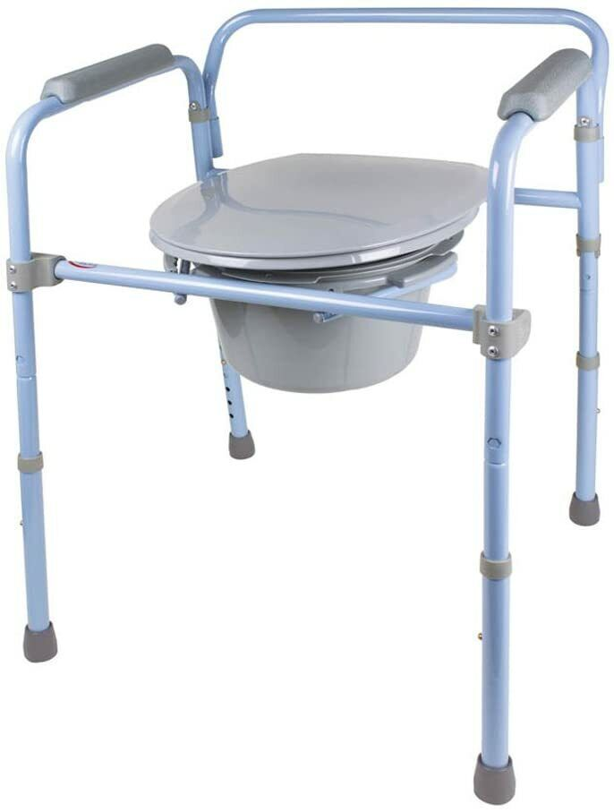 carex 3 in 1 folding bedside commode