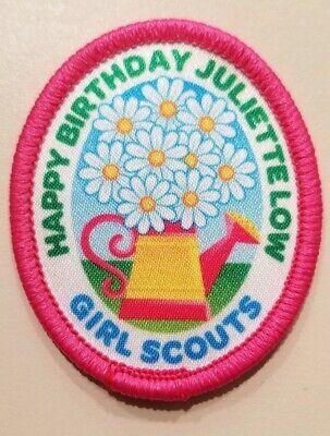- Happy Birthday Juliette Low Girl Scouts Patch