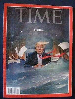 Rare TIME Magazine April 23, 2018 Donald Trump STORMY, Art, Rare Collectors Copy
