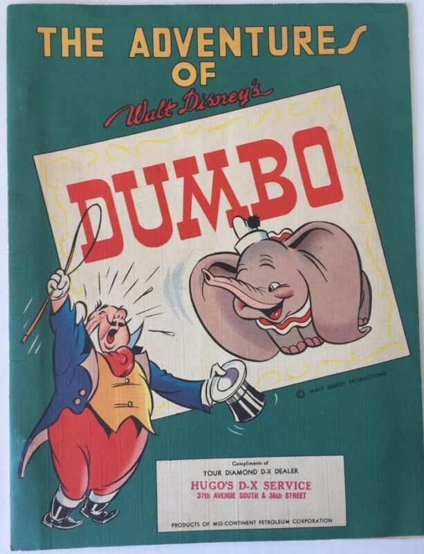 1942 Dumbo Weekly #1+ Binder, Mailing Envelope, Diamond D-X Gas Stations