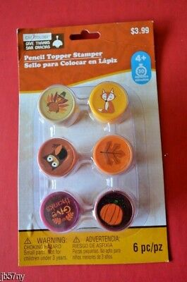 (Fall/Harvest Pencil Topper Stamper 6 pc by Creatology New)