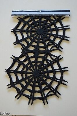 Halloween Black Spider Web Table Runner by Celebrate It New